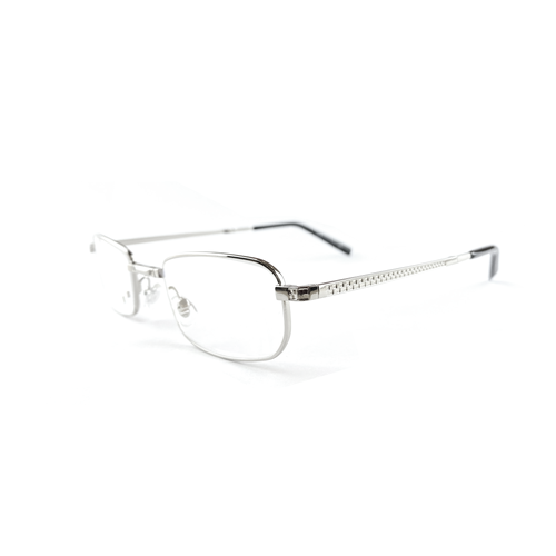 Foldable Silver Metal Reading Glasses | Blue Lenses