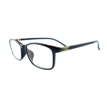 Load image into Gallery viewer, Black and Gold Reading Glasses | Blue Lenses