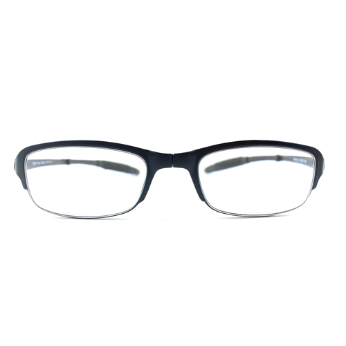 Foldable Black Reading Glasses TR 90 | Blue Lenses