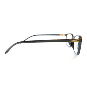 Black and Gold Reading Glasses | Blue Lenses