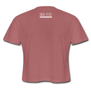 "Women's ""Powered by Plants, Compelled by Compassion"" Rough Flowy Cropped Tee,Humane Apparel  - Humane Apparel"
