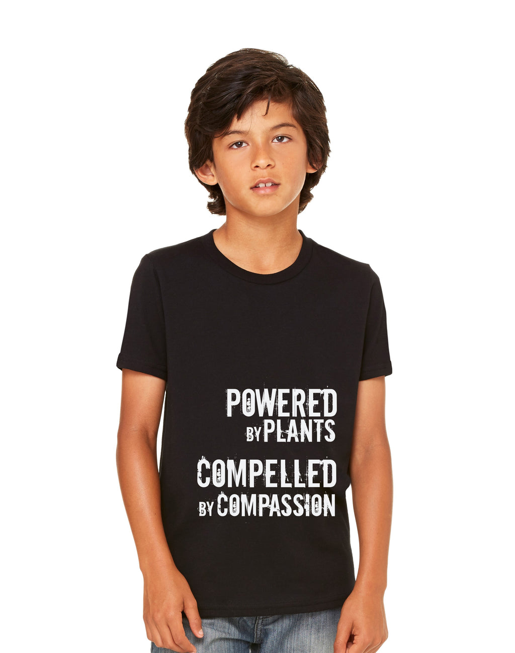 "Youth ""Powered By Plants, Compelled by Compassion"" Tee,Humane Apparel  - Humane Apparel"
