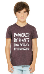 "Youth ""Powered by Plants, Compelled by Compassion"" Tee (soft),Humane Apparel  - Humane Apparel"