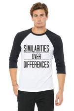 "Mens ""Similarities Over Differences"" BBall Tee,Humane Apparel  - Humane Apparel"