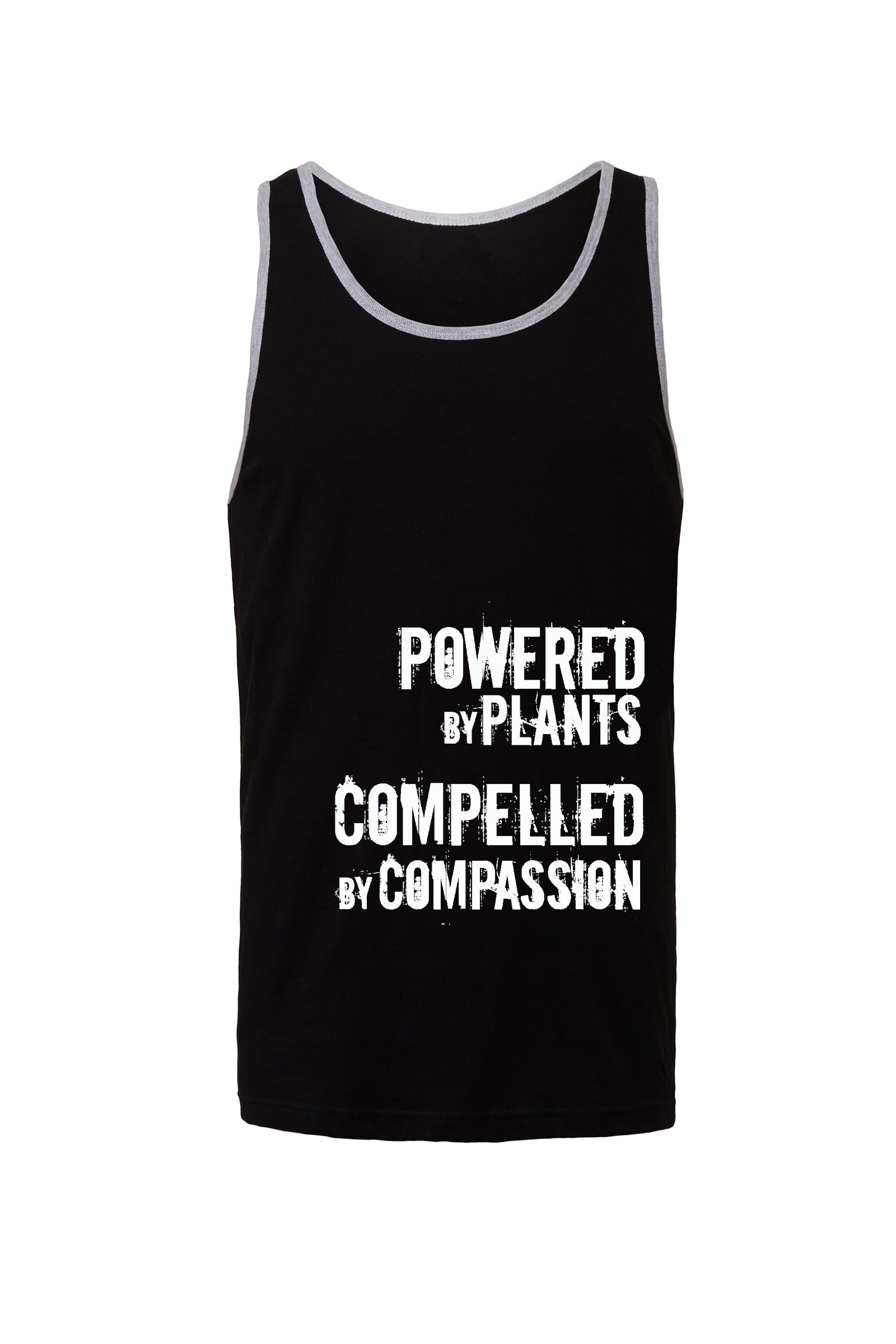 "Unisex ""Powered by Plants, Compelled by Compassion"" Tank Top,Humane Apparel  - Humane Apparel"