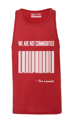 "Unisex ""We are not Commodities"" Tank Top,Humane Apparel  - Humane Apparel"