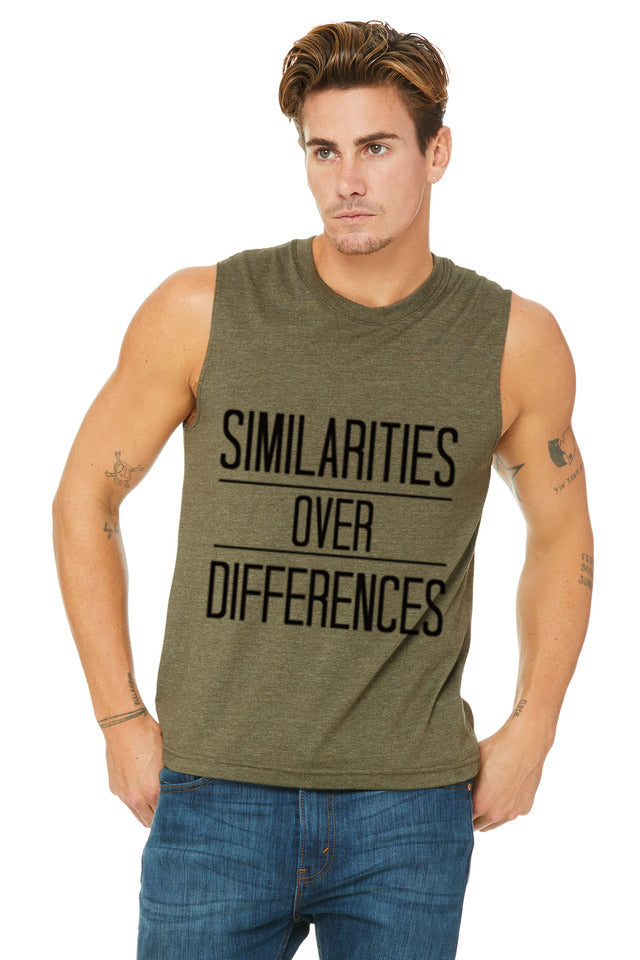 "Unisex ""Similarities over Differences"" Muscle Tank,Humane Apparel  - Humane Apparel"