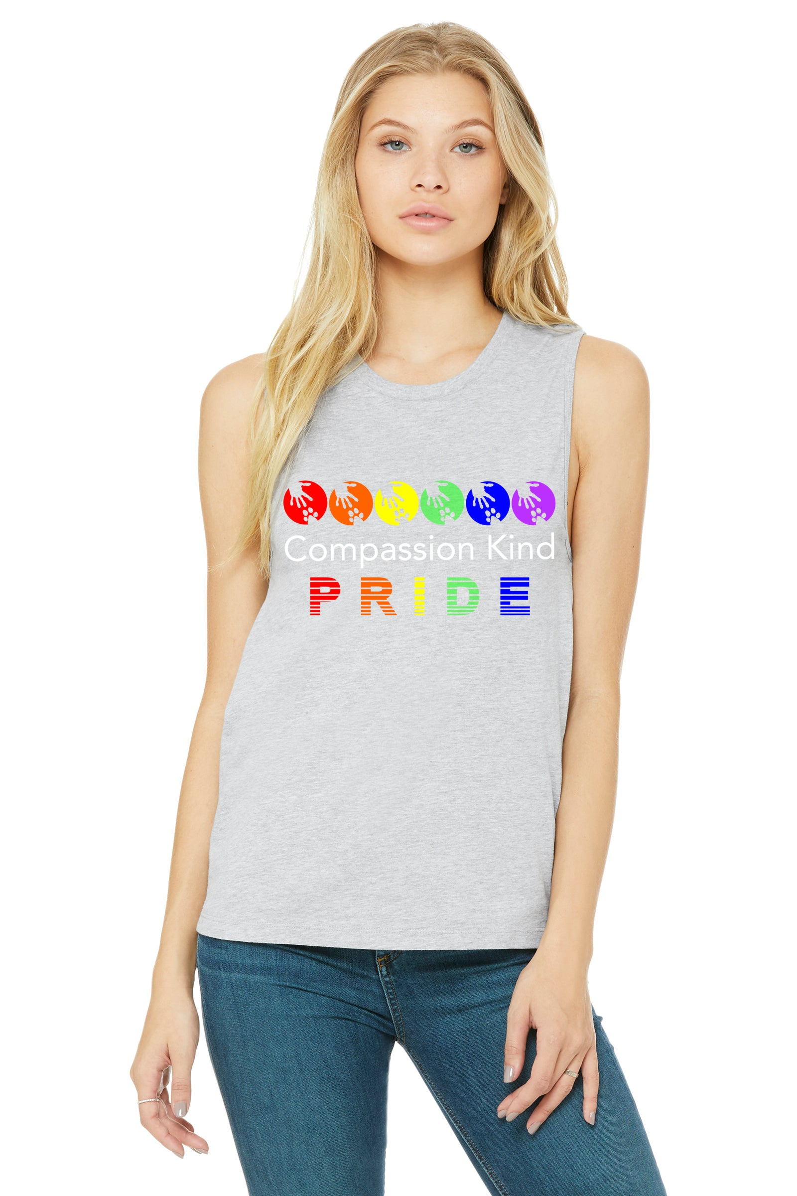 "Compassion Kind ""PRIDE"" Muscle Tank,Humane Apparel  - Humane Apparel"