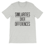 "Unisex ""Similarities Over Differences"" Tee,Humane Apparel  - Humane Apparel"
