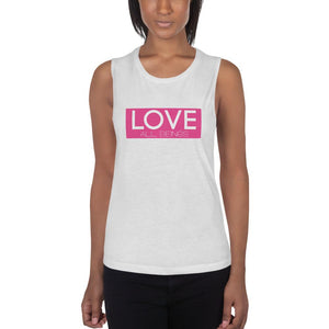 "Women's ""LOVE All Beings"" Muscle Tank - Humane Apparel"