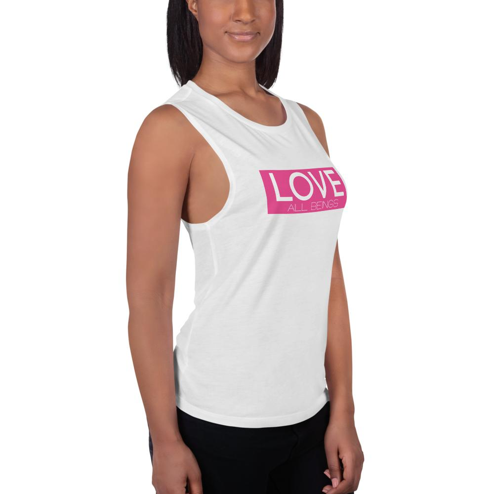 "Women's ""LOVE All Beings"" Muscle Tank,Humane Apparel  - Humane Apparel"