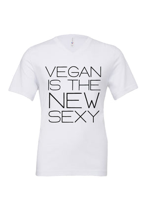 "Unisex ""Vegan Is the New Sexy"" V-Neck Tee,Humane Apparel  - Humane Apparel"