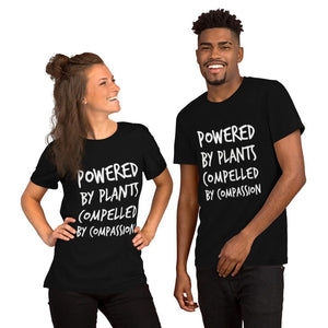 "Unisex ""Powered by Plants..."" (soft) - Humane Apparel"