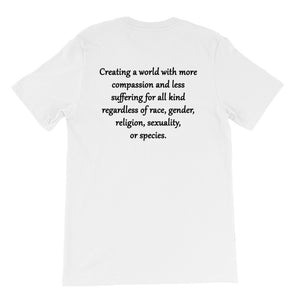 """Compassion Kind"" Unisex T-Shirt  in light colors,Humane Apparel  - Humane Apparel"