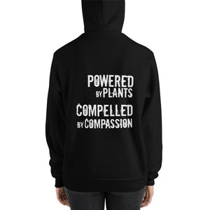 "Humane Apparel ""Powered by Plants, Compelled by Compassion"" Unisex hoodie,Humane Apparel  - Humane Apparel"