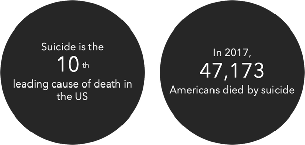 suicide is the 10th leading cause of death in the US