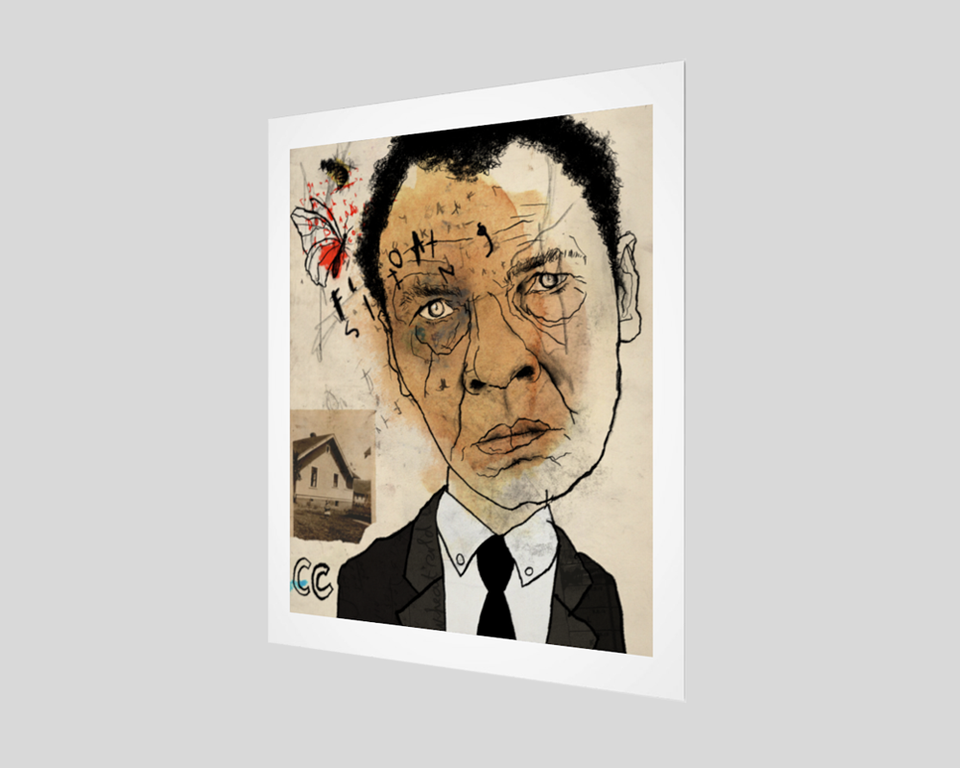 "Muhammad Ali Fine Art Print with 1"" border"