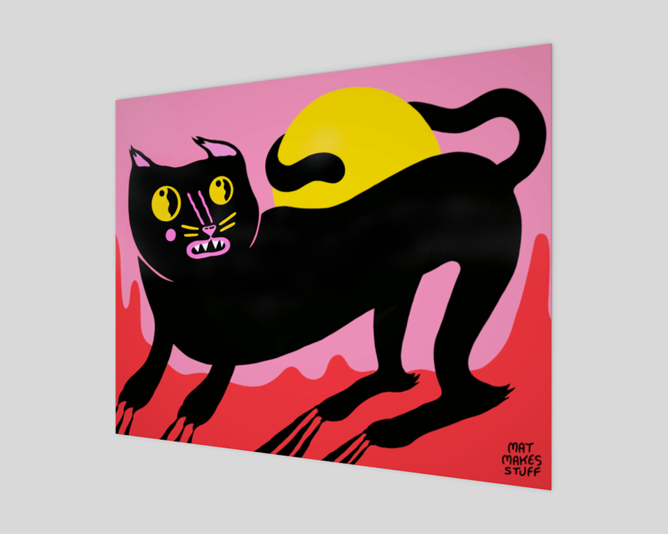 Equinox Cat Fine Art Print with no border