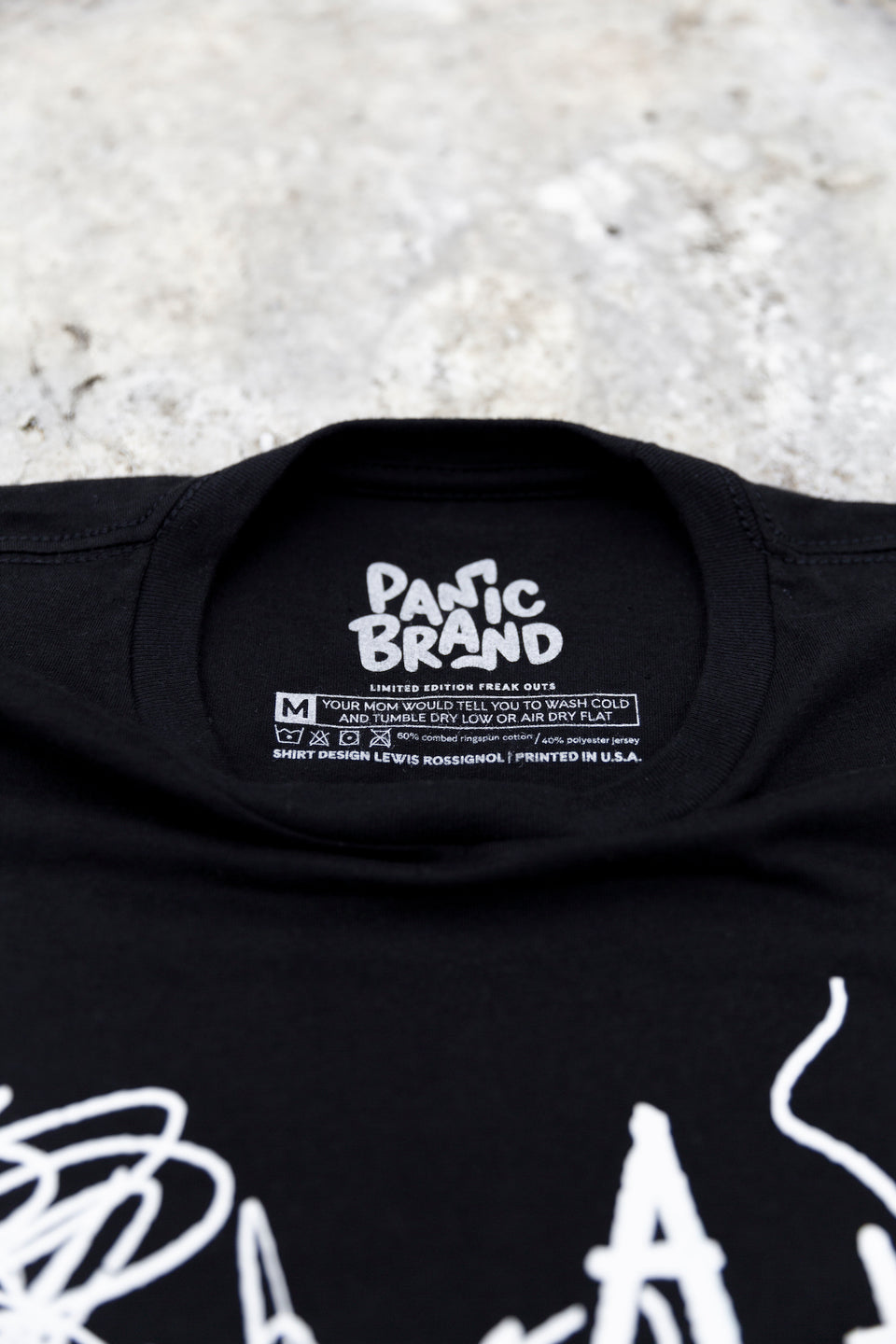 Panic Brand ↑ ↑ ↓ ↓ ← → ← → T‑shirt Label