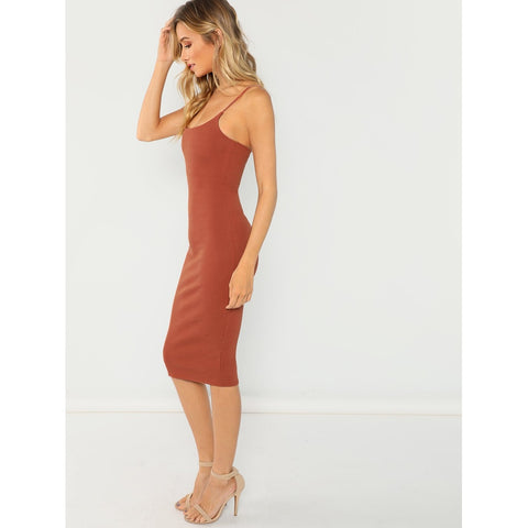 Rib Knit Sleeveless Dress