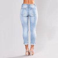 Women Stretch High Waist Skinny Embroidery Jeans - Alyanna Store
