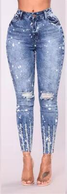 Spring & Summer Stretchy Blue Ripped Jeans Collection - Alyanna Store