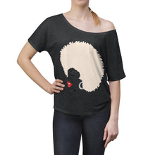 "Load image into Gallery viewer, "" Melanin Melanie "" (blonde from / red lippie )  Women's Slouchy top"