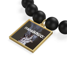 Load image into Gallery viewer, mesSAGE black Onyx mate bracelet