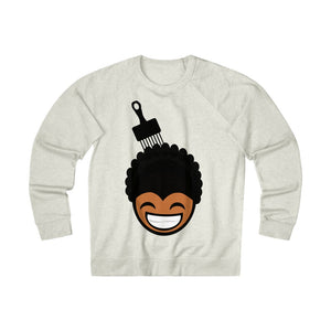 """ Black Boy Afro n' Pick "" Unisex French Terry Crew Sweatshirt (Oatmeal)"