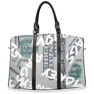 """ Money Bags "" travel / hand / carry on bag (w/removable shoulder strap)"