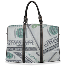 "Load image into Gallery viewer, "" Money bag"" travel / hand/ carry on bag (w/removable shoulder strap)"