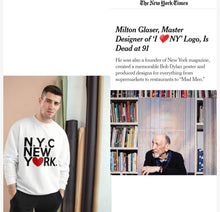 "Load image into Gallery viewer, "" New York ""TeeAllAboutIt x Champion Sweatshirt Inspired by original I Love NY tshirt"