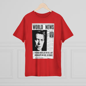 World News DAVID BOWIE Unisex Deluxe T-shirt