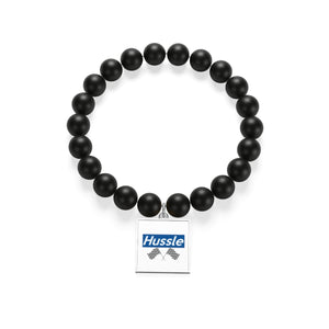 """ Hussle (To Be Continued) ""🌠 Matte Black Onyx Bracelet"