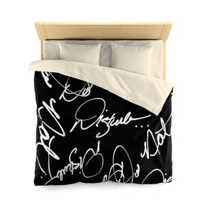 """ Do Not Disturb "" Microfiber Duvet Cover"