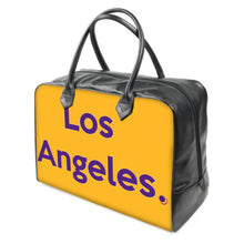 Load image into Gallery viewer, LA Los Angeles  Lakers colors LEATHER Carry on Travel / Gym / Handbag