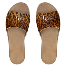 Load image into Gallery viewer, LV Wear (leopard) leather sliders