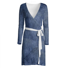 Load image into Gallery viewer, Jeanly Patchwork Wrap Dress