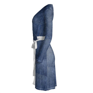 Jeanly Patchwork Wrap Dress