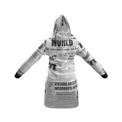 News & Media Hoodie Dress