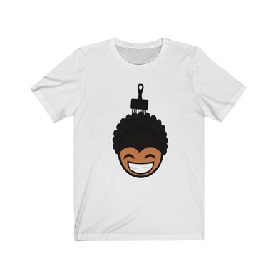 Black Boy Afro n' Pic (Bella Canvas 3001) Unisex Jersey Short Sleeve Tee
