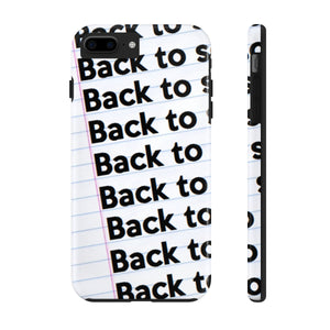 """BACK TO SCHOOL""  Notebook Case Mate Tough Phone Cases (iPhone XR - Samsung Galaxy S6 Tough)"