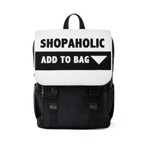""" Shopaholic "" (full frontal) UNISEX Casual Shoulder Backpack"