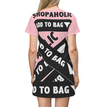 Load image into Gallery viewer, Shopaholic Add to Bag™ (Bandage/Pink) T-shirt Dress