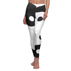 Yin Yang Women's (Brushed suede / Spandex) Casual Leggings