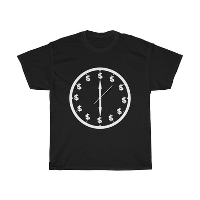 Time is Money (white letter) UNISEX Heavy Cotton Tee
