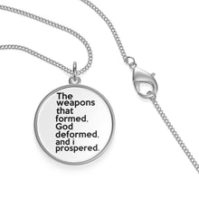 Load image into Gallery viewer, The Weapons That Formed ...sacred reminder Single Loop Necklace