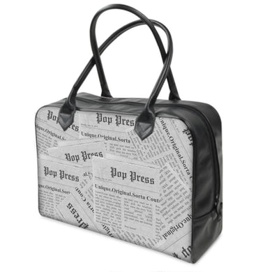 Unique, Original Sorta Couture Pop Culture Press News & Media Leather Bag