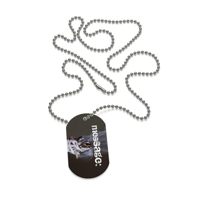 mesSAGE Dog Tag Style Necklace