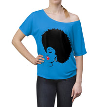 "Load image into Gallery viewer, *discount special* "" Melanin Melanie "" (black fro / red lippie )  Women's Slouchy top"